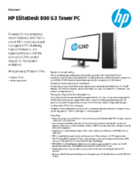HP ED800 G3 Tower PC