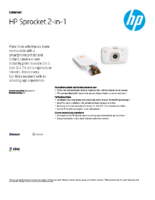 HP Sprocket 2-in-1 (White)